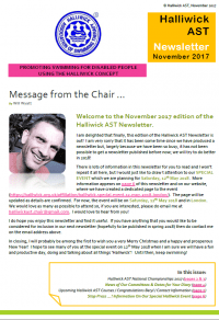 Halliwick AST Newsletter Nov 2017