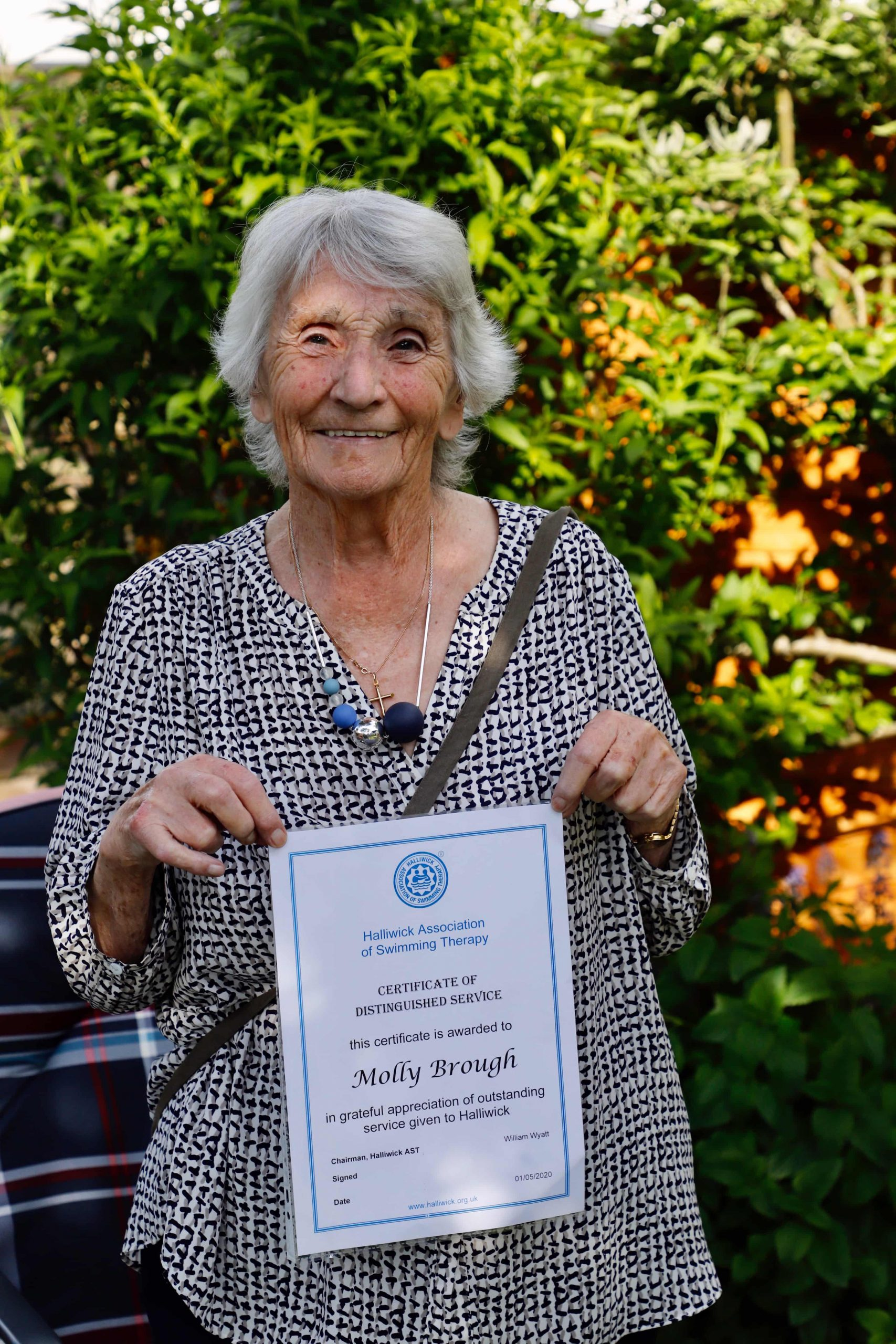 Molly Brough with Certificate