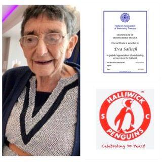 Eva Salisch with Distinguished Service Award
